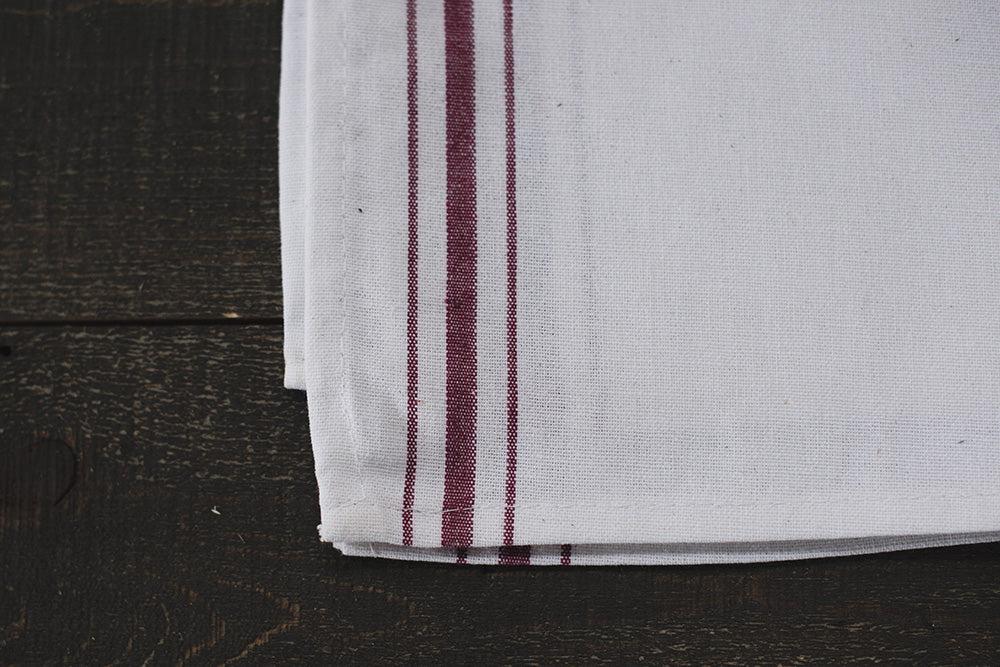 Red Stripe Kitchen Towel