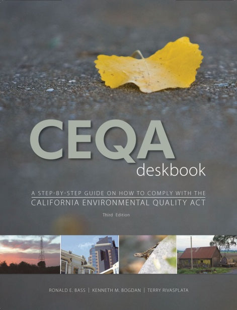 Now available as free download -  2018 Update to CEQA Deskbook, 3rd editon