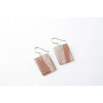 dConstruct Eco-Friendly Recycled Resin Handmade SWEPT COPPER Earrings