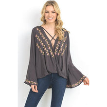 plunging neckline top