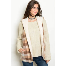 plaid hooded vest