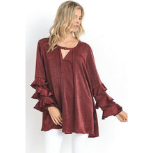 satin tunic blouse