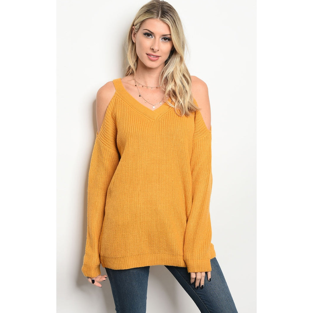 cold shoulder sweater
