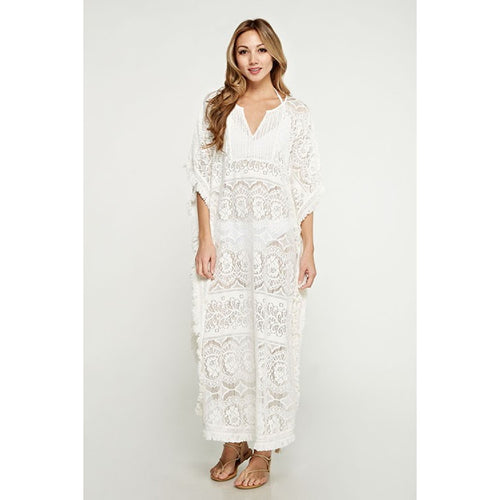 long lace caftan