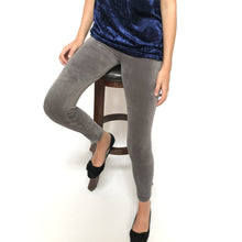 gray velvet leggings