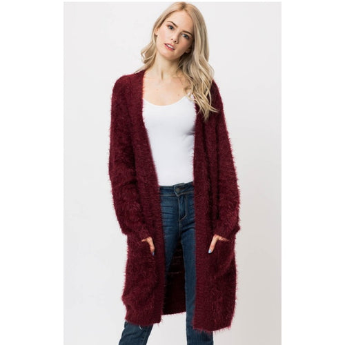 faux fur cardigan