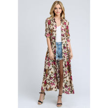 long floral duster