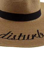 wide brim embroidered hat