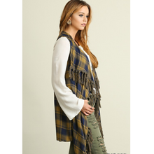long plaid vest