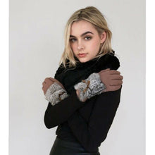 Rabbit Fur Touch Screen Gloves