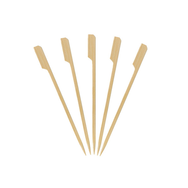 KingSeal Natural Green Bamboo Wood Paddle Picks, Skewers for Appetizers and Cocktails, 6.0 Inches