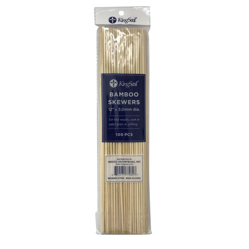 12 inch Bamboo Skewers (12/16/100)