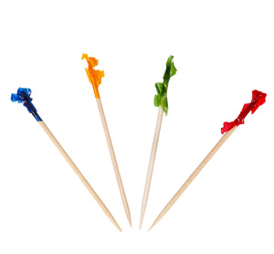 KingSeal Regular Frill Toothpicks, Assorted Colors, 2.5 Inch length