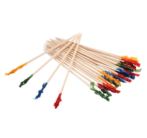 KingSeal Club Frill Sandwich Toothpicks, Assorted Colors, 3.75 Inch Length
