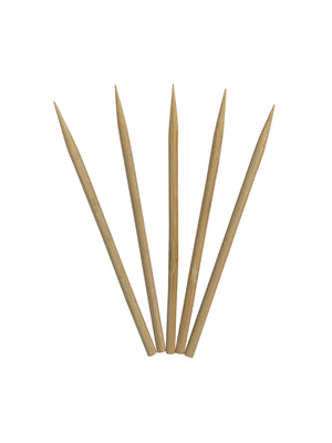 KingSeal Natural Bamboo Wood Meat Skewers, Kebab Sticks - 4.5 Inches, 3.5mm Diameter