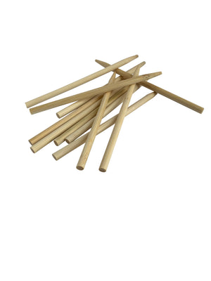 KingSeal Natural Bamboo Wood Candy Apple Skewers, Sticks, 5.5 Inch, 6.5mm Diameter, Blunt Point for Safety, Bulk Pack