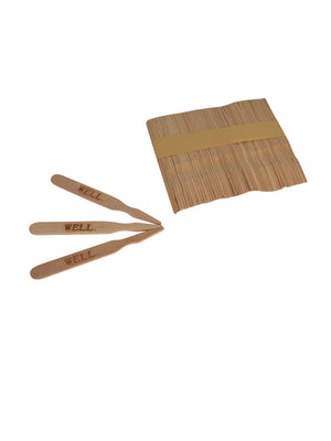 KingSeal 3.5 Inch Natural Birch Wood Steak Markers, Heat Stamped