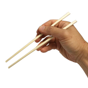 KingSeal 8 Inch Natural Birch Wood Chopsticks, Paper Sleeve