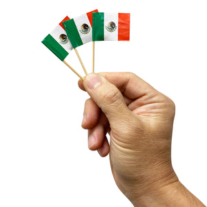 Paper Flag Picks - American, Mexican, and Italian, Available in Various Case Packs