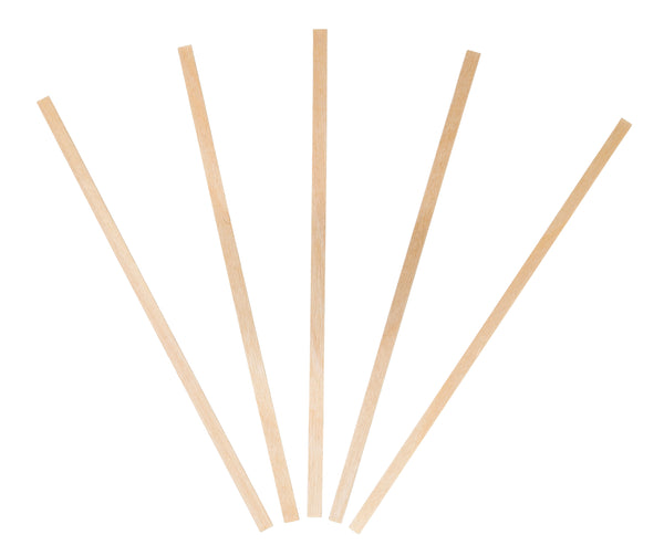 5.5 inch Wood Coffee Stirrers, Square End (10/1000)