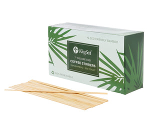 KingSeal Bamboo Coffee Beverage Stirrers, Square End - 7 Inches, 100% Renewable and Biodegradable