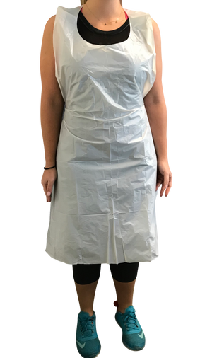 KingSeal Disposable Poly Aprons, 24 x 42, 0.8 mils Thick, Individually Packed