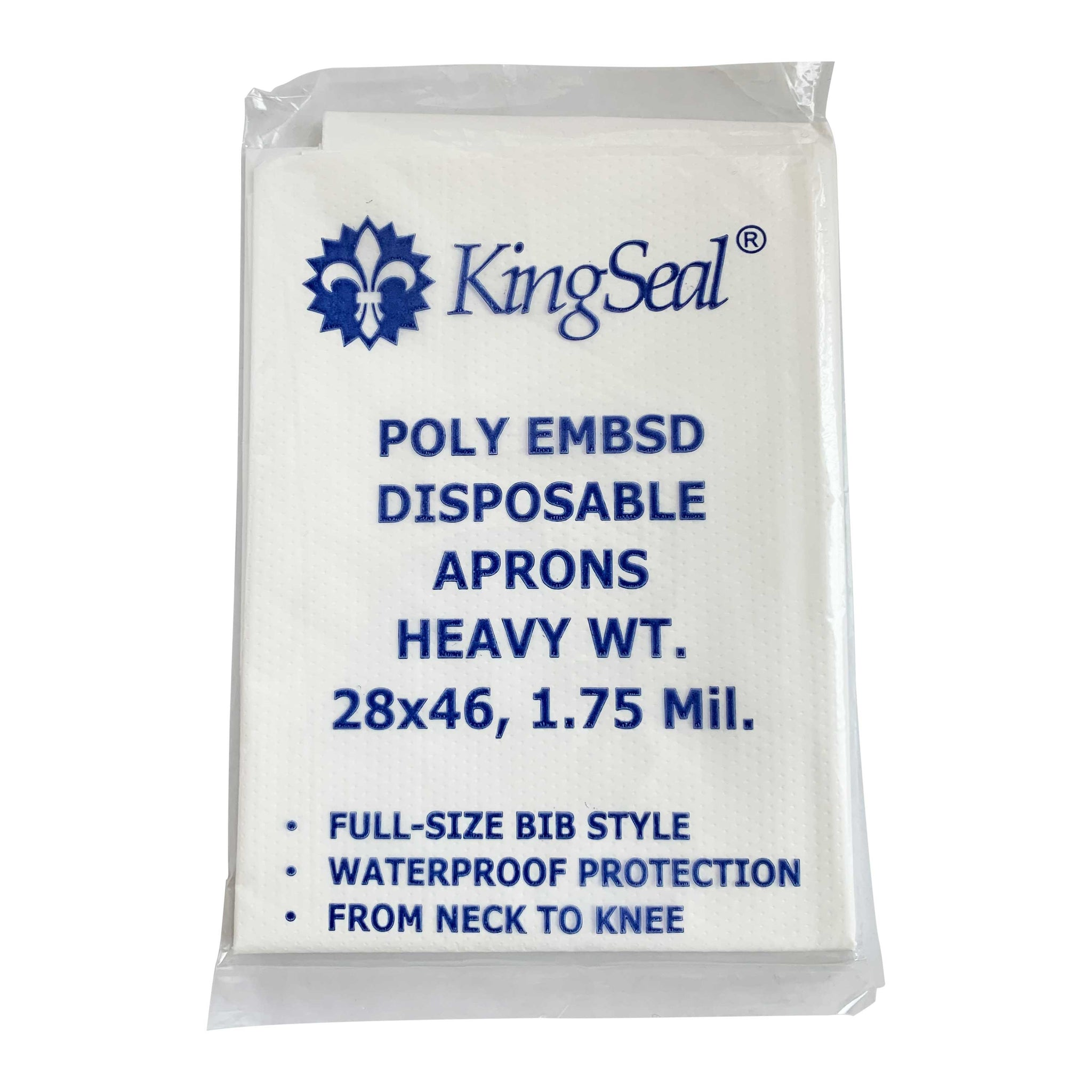 10 WHITE DISPOSABLE BIB APRONS SIZE 28x46 INDIVIDUALLY PACKAGED FREE SHIPPING
