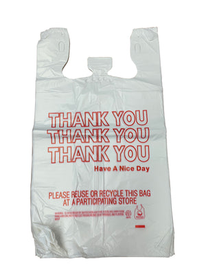 HDPE T-Shirt Bags - Grocery Sacks, Various Sizes