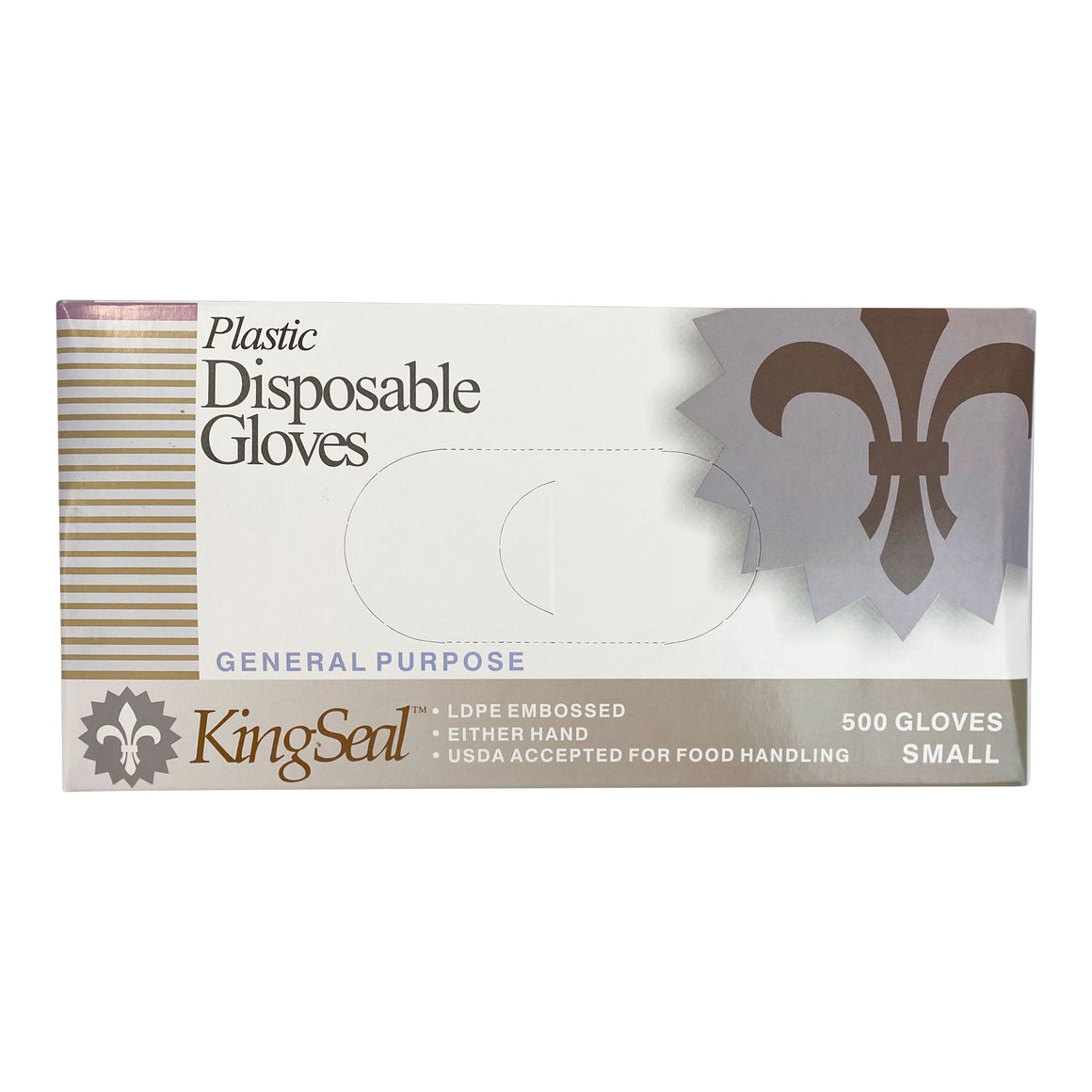 KingSeal Embossed Poly Disposable Gloves, Latex-Free, Powder-Free, 500 Count Box Dispenser