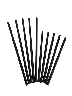 "Kingseal Paper Disposable Cocktail Straws/Stirrers, Unwrapped, 5.75 Inch, Black, ""Jumbo"" Size, Bulk Pack"