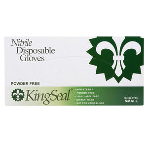 KingSeal Nitrile General Purpose Gloves, Powder-Free, Latex-Free, Blue, 4 mil Thickness