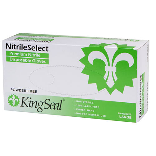 """NitrileSelect"" General Purpose Nitrile Gloves, White, Powder Free (4/200)"