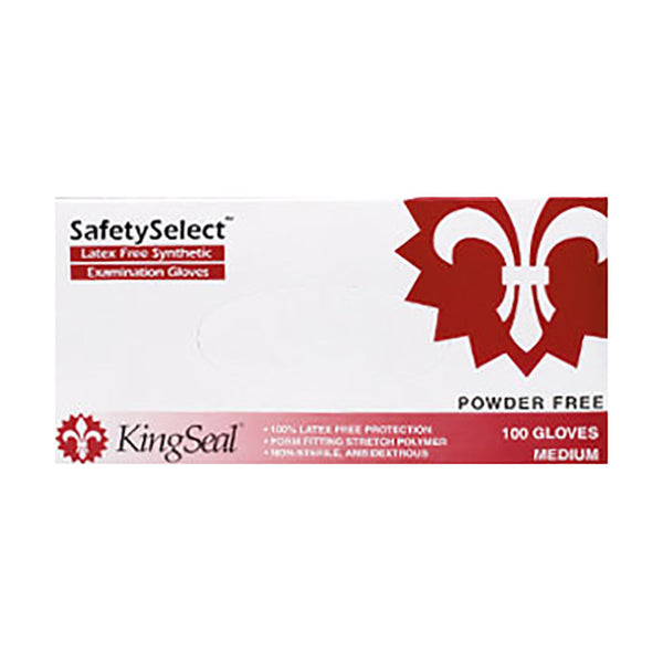 """SafetySelect"" Synthetic Stretch Vinyl Exam Gloves, Powder Free (4/100)"