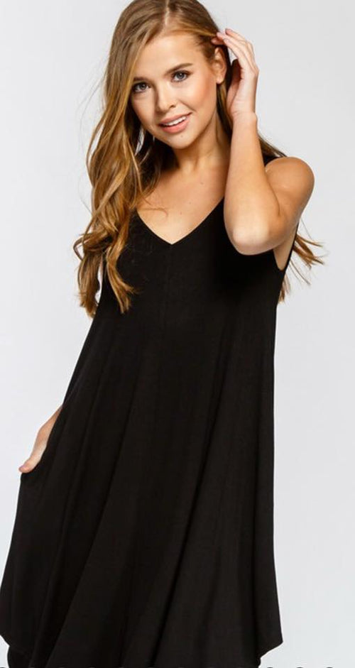 Black Criss-Crossed Dress