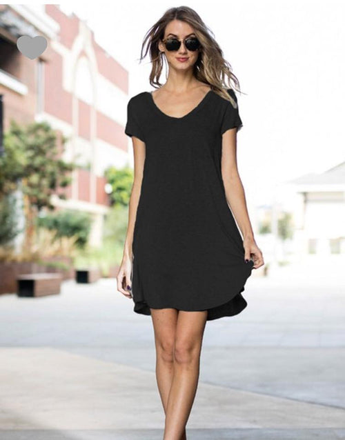 Black T Shirt Pocket Dress