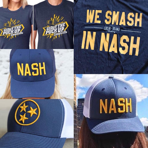 Blue and Gold Nash Hat