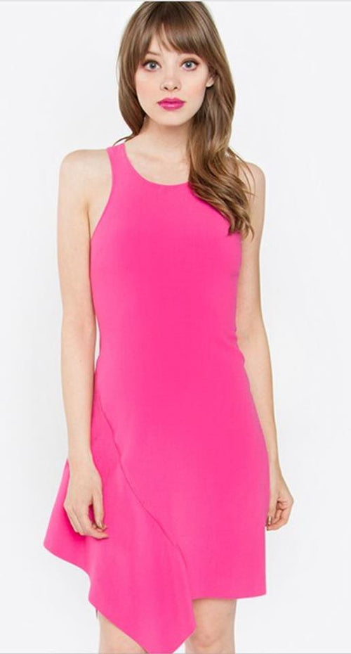 Pink Front Flap Dress