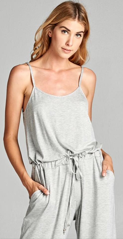 Heather Gray Jumpsuit