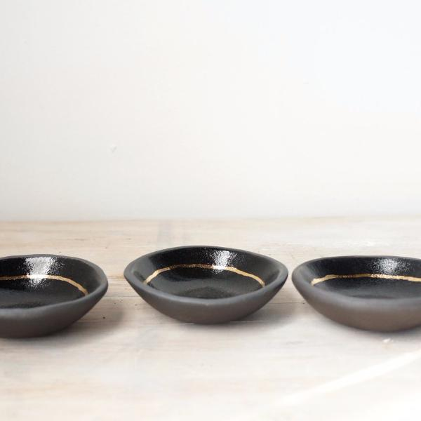 Black + Gold Ring Dish