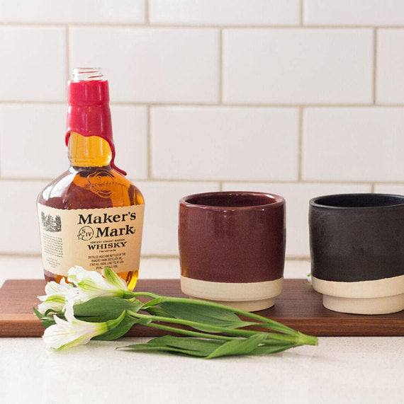 Geometric Whiskey Cup with Candle