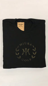 Miura Heather Black Classic Gold Logo T-Shirt