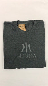 "Heather Grey with Grey ""M"" Logo"
