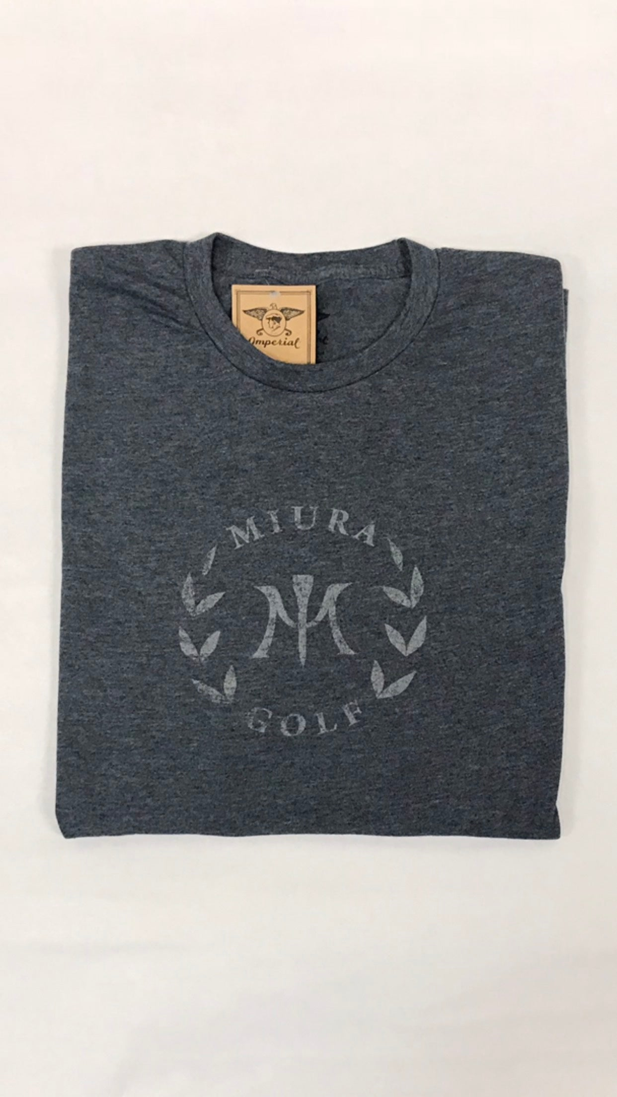 Miura Heather Navy Classic Gray Logo