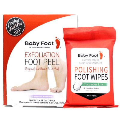 Baby Foot with Free Gift - Polishing Foot Wipes