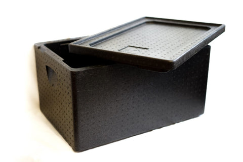 Styropobox schwarz - Thermo-Transportbox