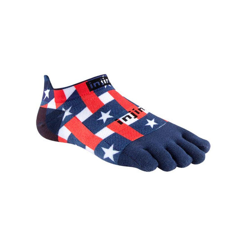 Injinji Run Lightweight No Show Stars & Stripes - Primal Lifestyle - Injinji Toe Socks