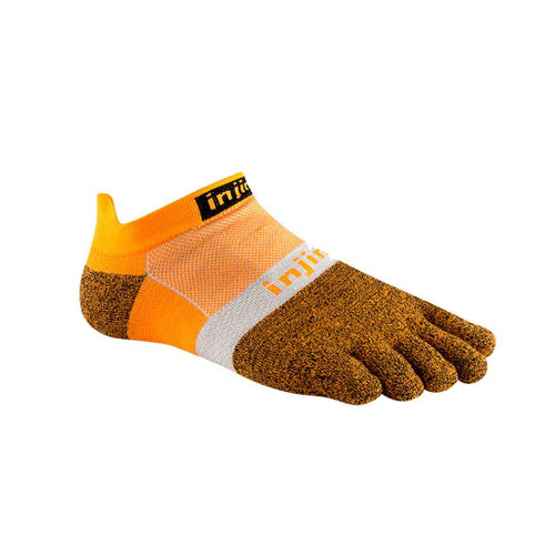 Injinji Run Lightweight No Show Tangerine - Primal Lifestyle - Injinji Toe Socks