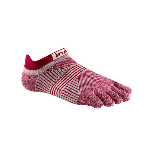 Injinji Womens Run LW No Show Cherry - Primal Lifestyle - Injinji Toe Socks