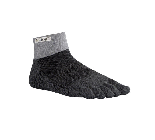 Injinji Trail Medium Weight Mini Crew Granite - Primal Lifestyle - Injinji Toe Socks