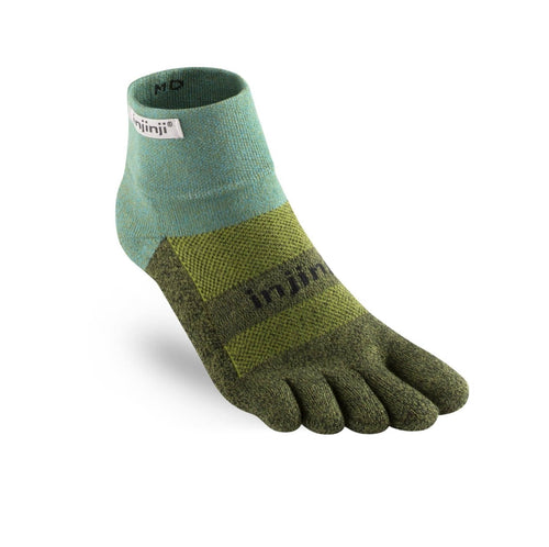Injinji Trail Medium Weight Mini Crew Pine - Primal Lifestyle - Injinji Toe Socks